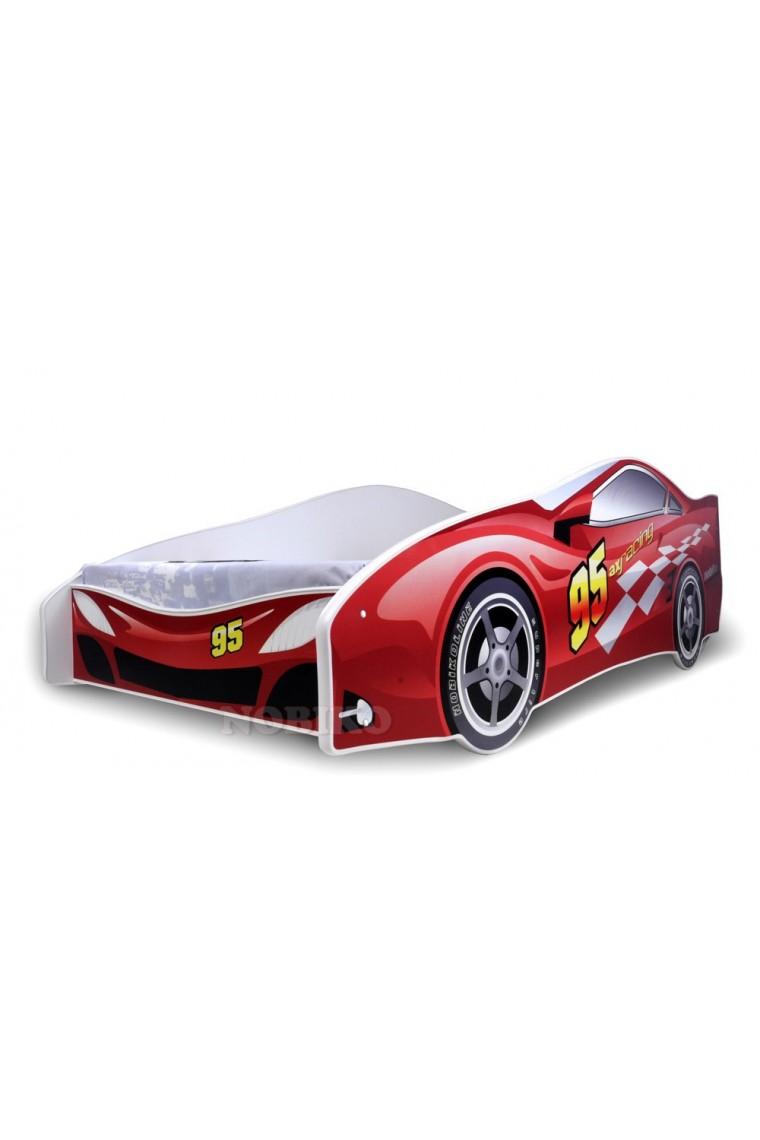 Letto macchina rossa con materasso 180x80 cm - Letto bimbo macchina ...