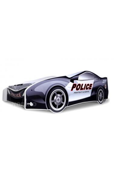 Letto macchina della polizia con materasso 180x80 cm - Letto bimbo macchina ...