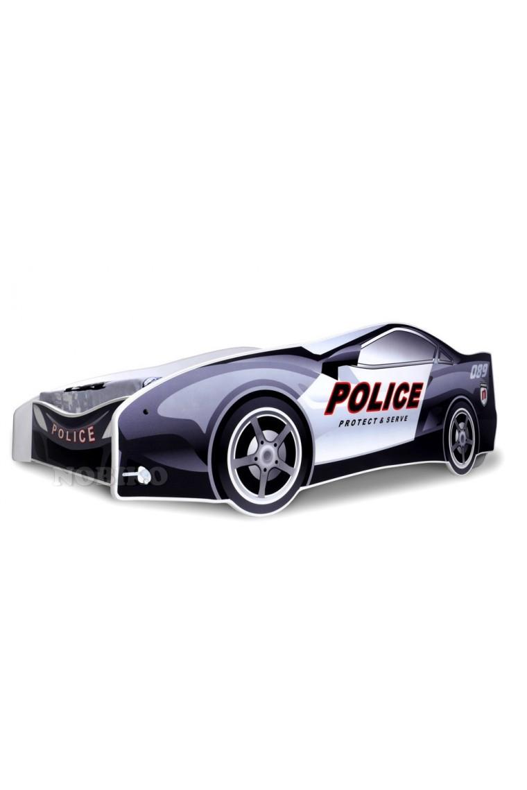 Letto macchina della polizia con materasso 180x80 cm - Letto bambino macchina ...