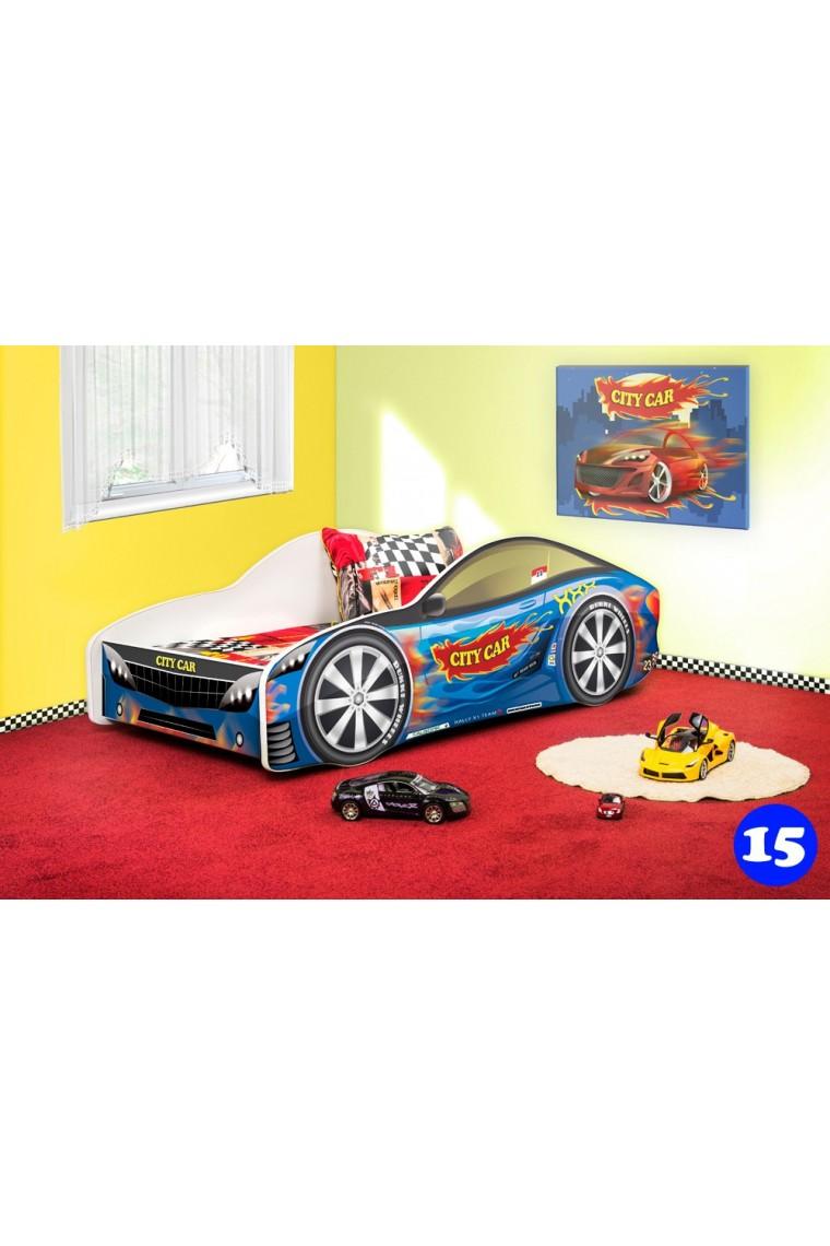 Lettino macchina auto con materasso 140x70 cm - Letto bimbo macchina ...
