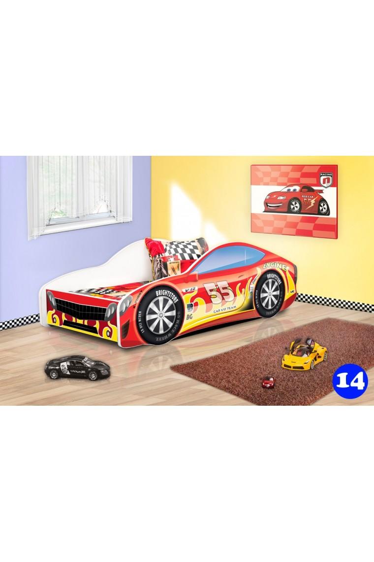 Lettino macchina auto con materasso 160x80 cm - Letto bimbo macchina ...