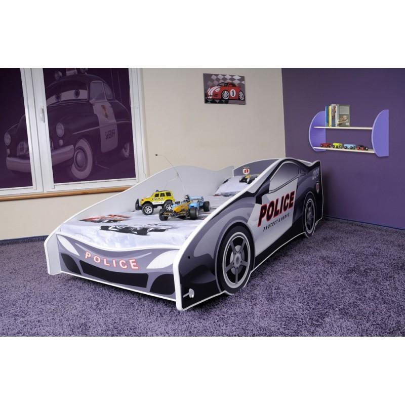 Letto macchina della polizia con materasso 180x80 cm