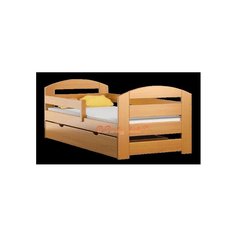 Letto singolo in legno di pino massello Kam3 con cassetto ...