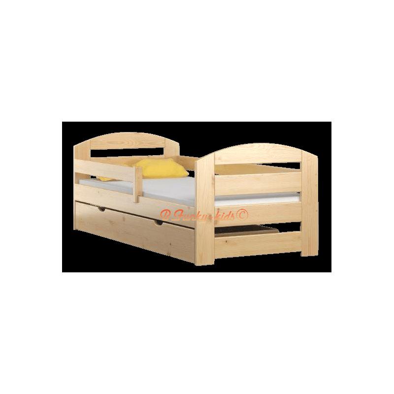 Letto singolo in legno di pino massello kam3 con cassetto - Letto di legno ...