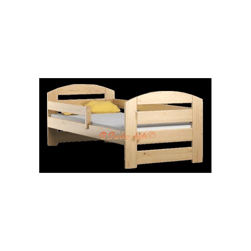 Lettino singolo bambino in legno di pino massello Kam3 160x80 cm