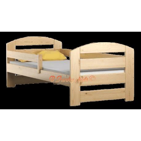 Letto singolo in legno di pino massello kam3 180x80 cm - Letto singolo in legno ...