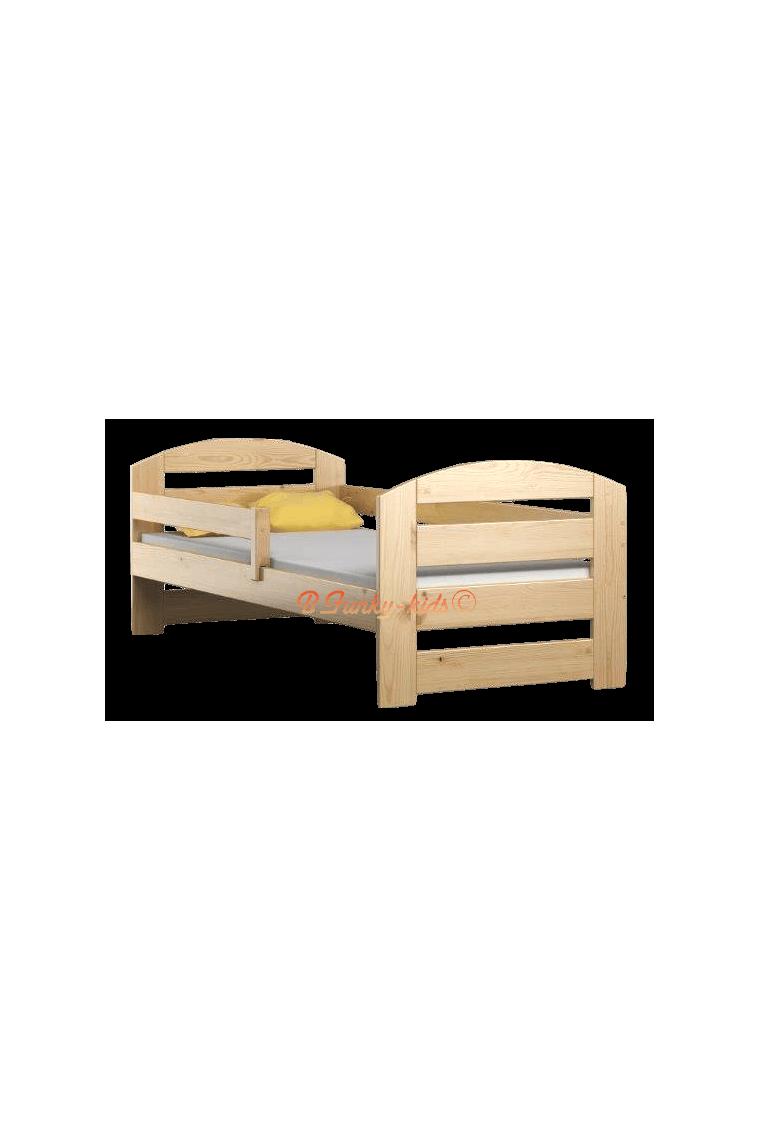 Letto singolo in legno di pino massello kam3 180x80 cm - Letto singolo in legno massello ...