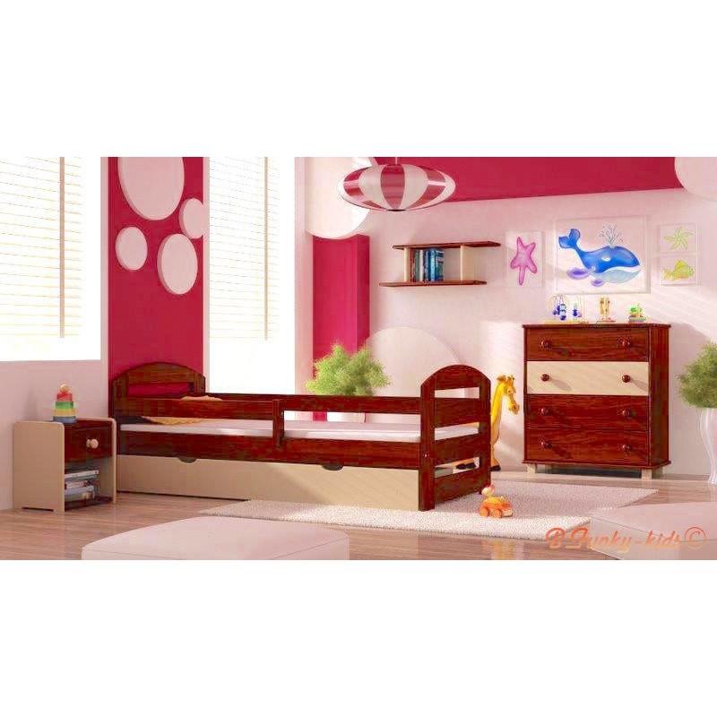 5 pezzi set di mobili in legno di pino massello kam3 160x70 cm for Mobili in pino