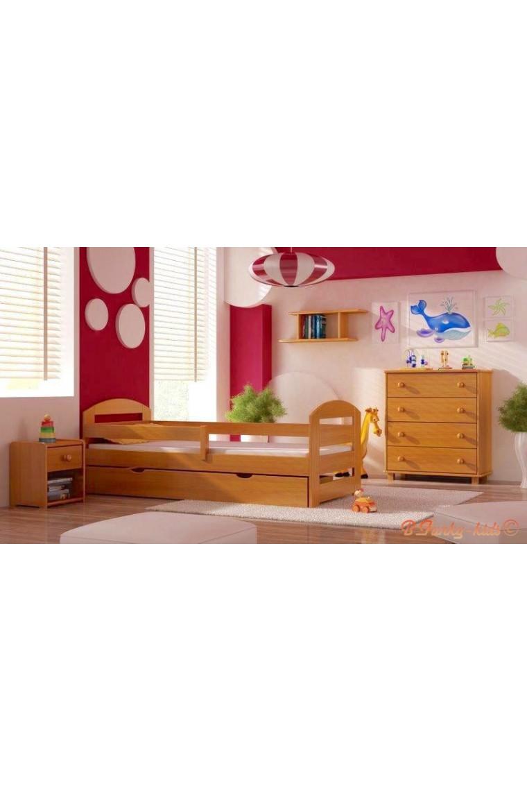 5 pezzi set di mobili in legno di pino massello Kam3 160x80 cm