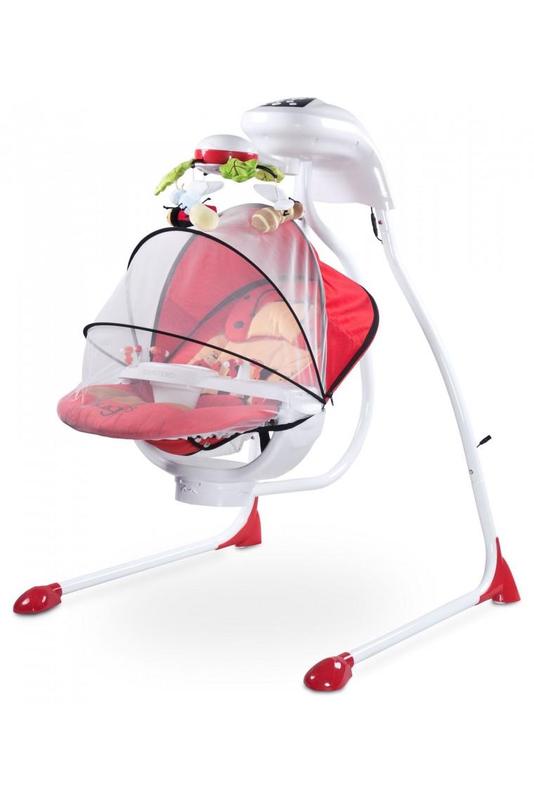 Sdraietta altalena dondolo automatico elettrico coccinella for Altalena a dondolo