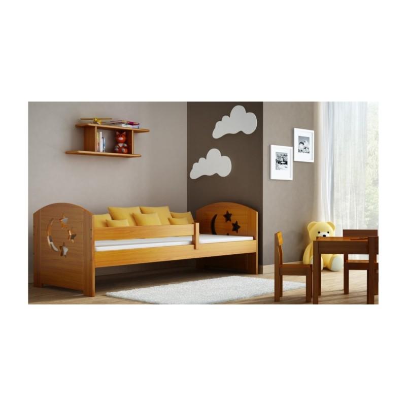 Letto singolo in legno di pino massello molly 180x80 cm - Letto singolo legno ...