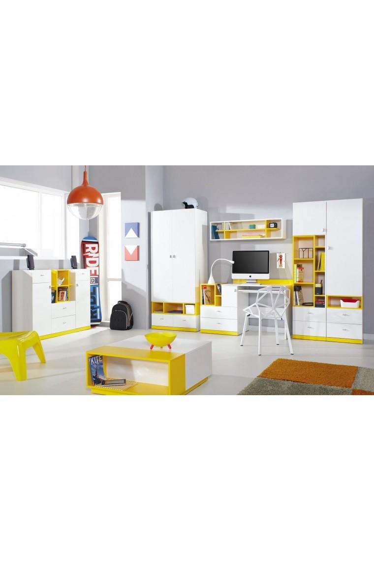 Letto a soppalco con scrivania mobby 200x90 cm - Letto a castello con scrivania ...