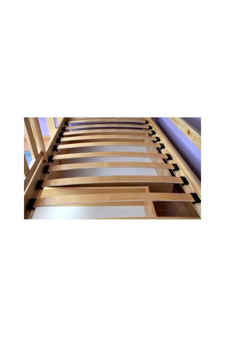 Letto a castello in legno massello jacob 2 con cassetto e - Letto a castello in legno massello ...