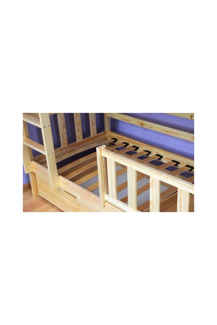 Letto a castello in legno massello bambi con cassetti - Letto a castello in legno massello ...