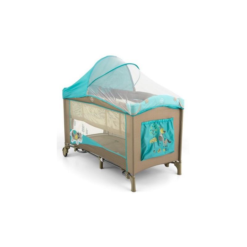 Lettino da campeggio con materassino fasciatoio Mirage Vacca Blu