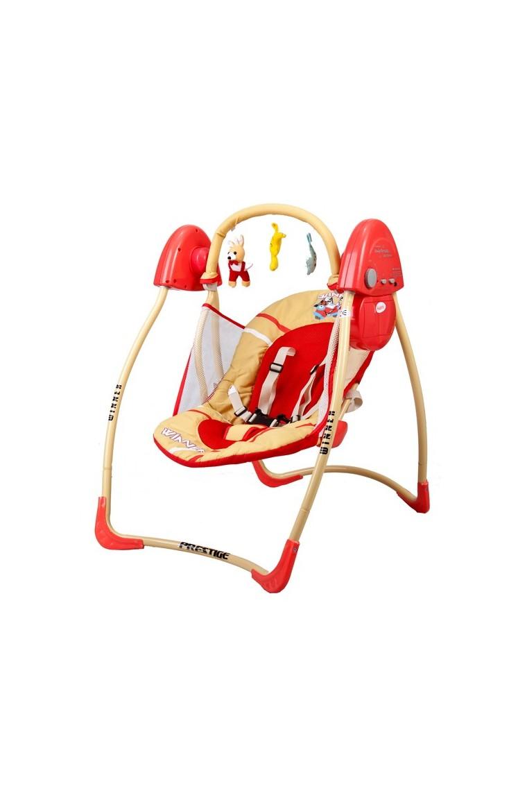 Sdraietta altalena dondolo automatico rosso for Altalena a dondolo