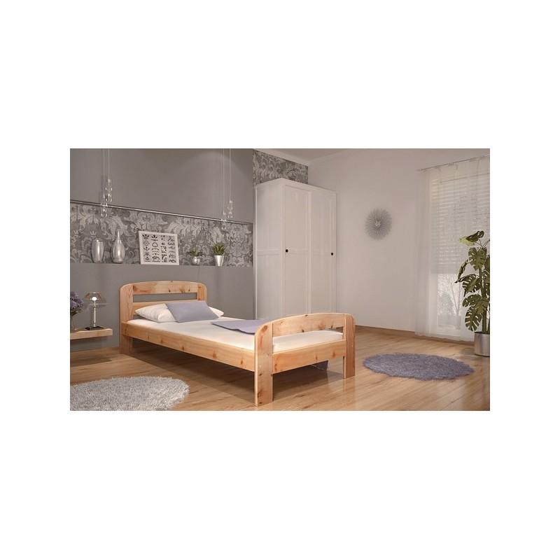 Letto singolo in legno di pino massello diego 200x90 cm - Letto di legno ...