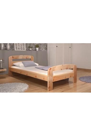 Letto singolo in legno di pino massello diego 200x90 cm - Letto singolo legno ...
