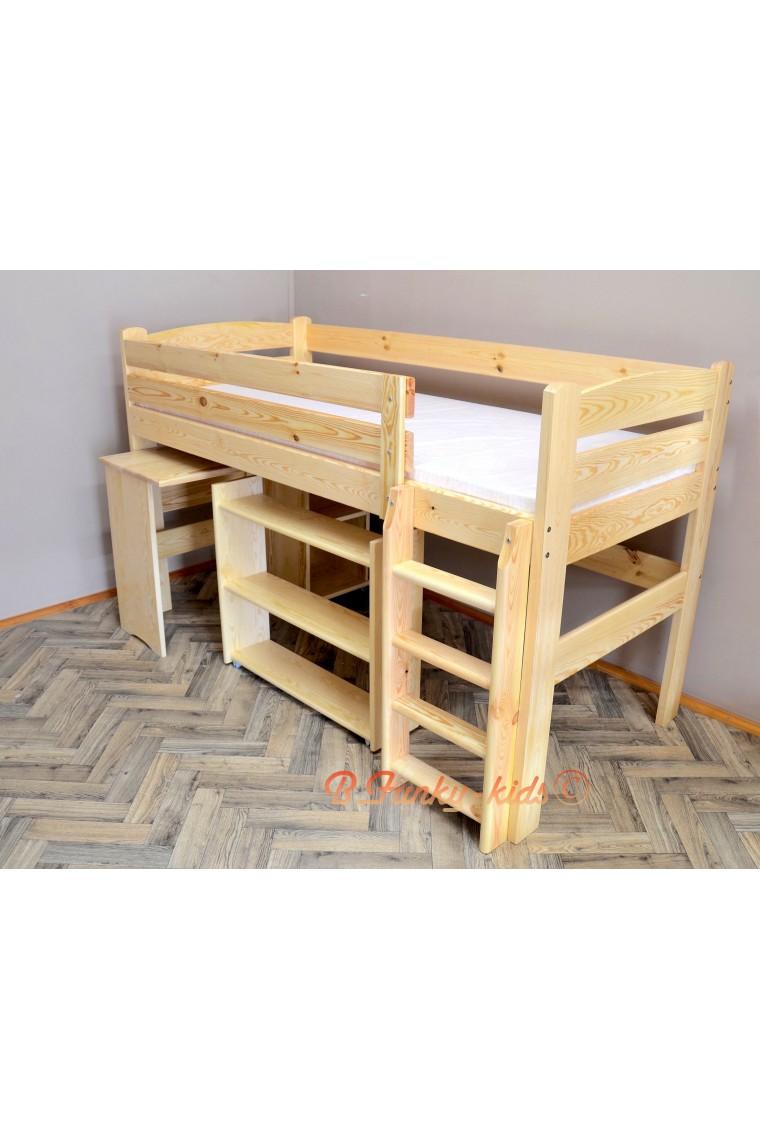 Letto rialzato con scrivania sotto : letto soppalco con scrivania ...