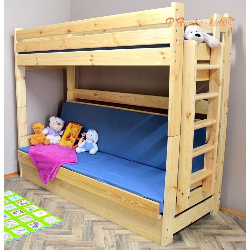 Letto a castello in legno massello carlos con materassi 200x90 e 20 - Cerco letto a castello in regalo ...