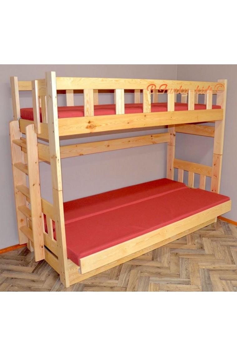 Letto a castello in legno massello fabio con materassi - Immagini letto a castello ...