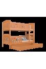 Letto a castello in legno massello Jacob 2 190x80 cm