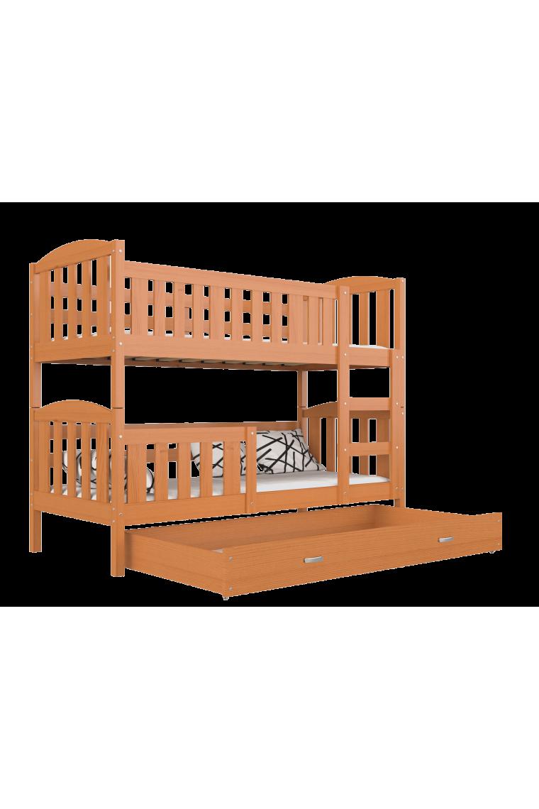 Letto a castello in legno massello jacob 2 con cassetto - Costruire un letto a castello in legno ...