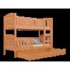 Letto a castello in legno massello Jacob 2 200x90 cm