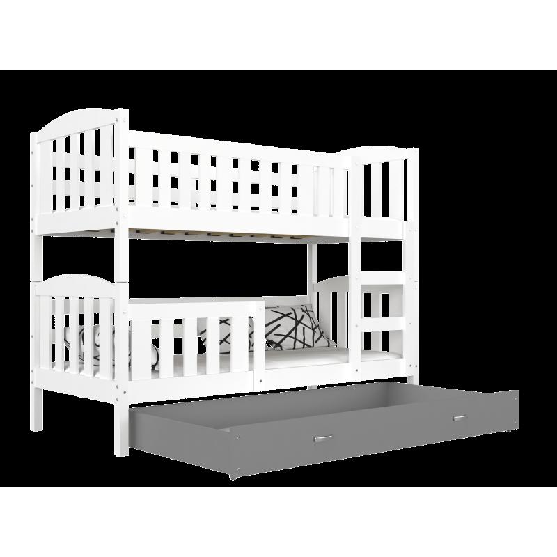 Letto a castello Jacob 2 con cassetto 200x90 cm