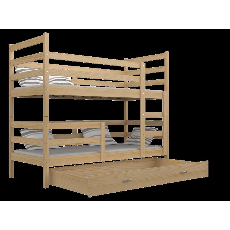 Letto a castello in legno massello jack con cassettio190x80 cm - Cerco letto a castello in regalo ...