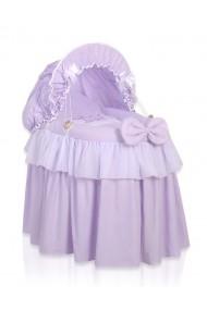 Culla vimini per bambole Little Princess viola