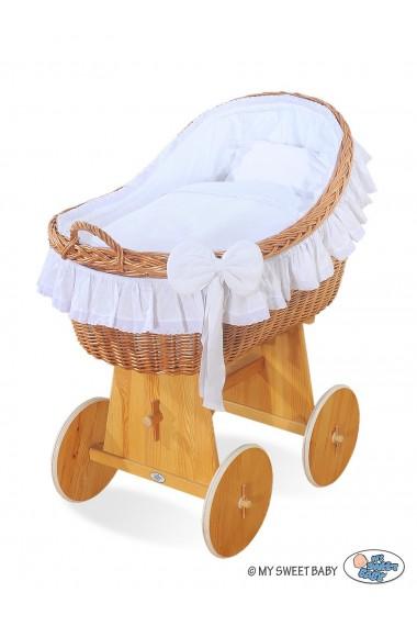 Culla neonato vimini Carine - Bianco