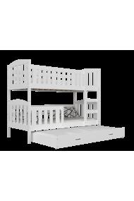 Letto a castello in legno massello Jacob 3 200x90 cm