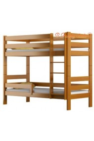 Letto a castello in legno massello Casper 200x90 cm