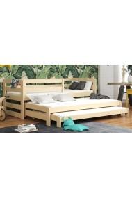 Letto scorrevole estraibile in legno massello 3 posti Rico 180x80 cm