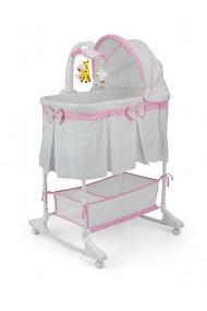 Culla neonato Sweet Melody 4 in 1 Grigio-rosa