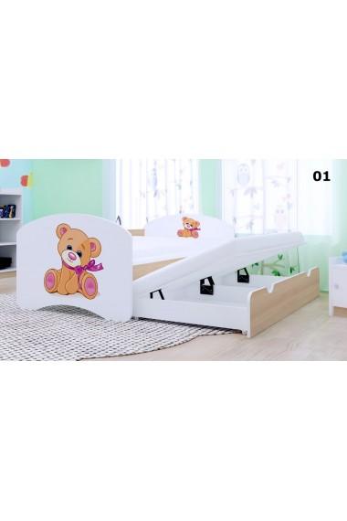 Lettino estraibile Happy Collezione 2 materassi 180x90 cm