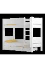 Letto a castello in legno massello Walter 160x70 cm