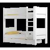 Letto a castello in legno massello Walter 160x80 cm