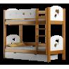Letto a castello in legno massello Cuori 160x80 cm