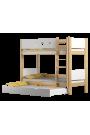 Letto a castello in legno massello Walter 3 160x80 cm