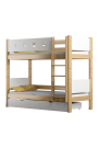 Letto a castello in legno massello Walter 3 180x80 cm