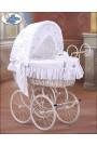 Culla vimini neonato Vintage Retro - Bianco
