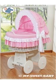 Culla neonato vimini Bellamy - Rosa