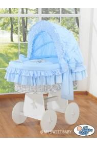 Culla neonato vimini Orsacchiotto - Blu-bianco