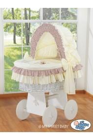 Culla neonato vimini Orsacchiotto - Beige