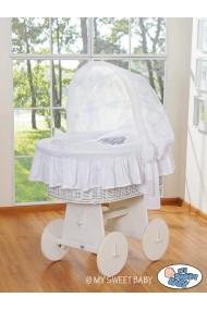Culla vimini neonato Glamour - Bianco