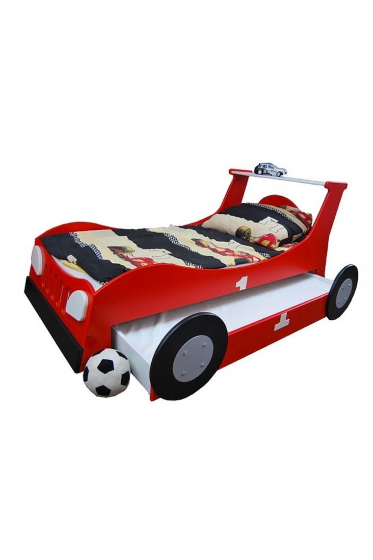 Letto macchina scorrevole estraibile 180x90 cm - Letto bambino macchina ...