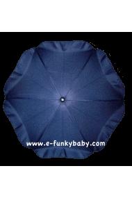 Ombrellino per passeggino blu marino