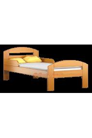 Lettino singolo bambino in legno di pino massello Timmy 160x80 cm